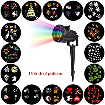 Christmas Projector Lights Outdoor Holiday Light Garden Projector Laser Lights Led Landscape Spotlight for Home Decoration Birthday Party