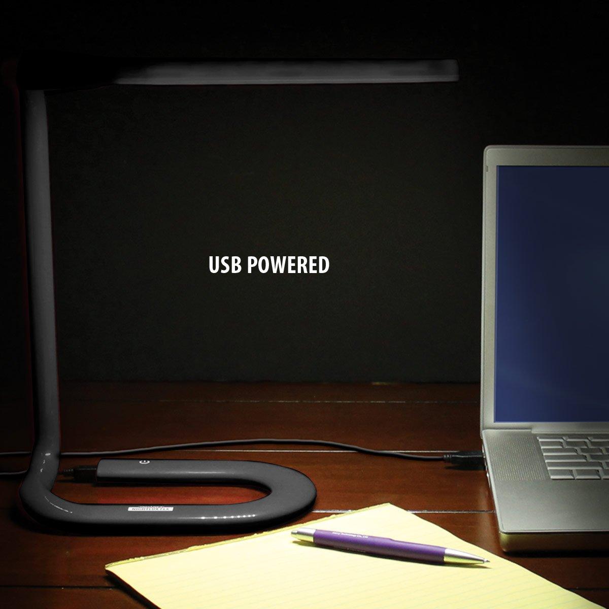 ENHANCE Lámpara LED USB de Lectura Libros / Flexo para Ordenador Portátil PC / Lámpara de Escritorio para Arquitectos / Iluminación Decorativa Moderna y ...