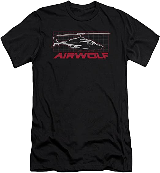 Airwolf TV Show Helicopter on GRID Licensed Adult Sweatshirt Hoodie