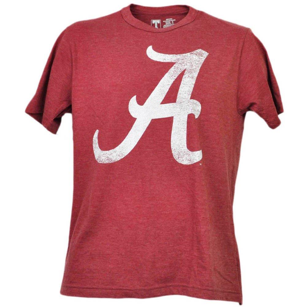 一番人気物 Alabama Crimson B01MG844QS Tide Crimson Destressedロゴ大人用Large半袖チームカラー Alabama B01MG844QS, clovershop:7584c1ba --- a0267596.xsph.ru