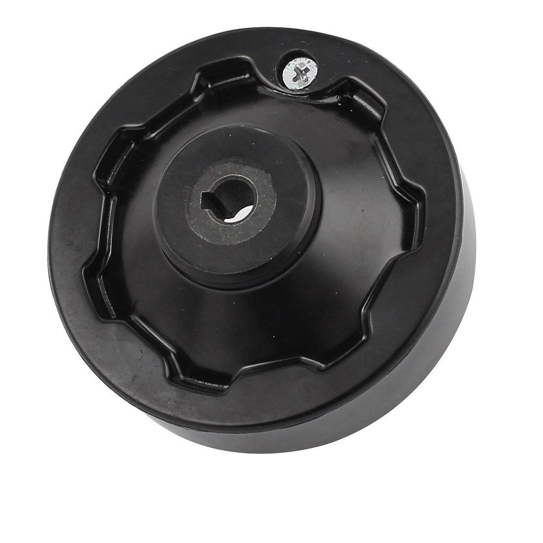 sourcingmap m/áquina taladro de metal asa plegable dentro la ondulaci/ón rueda de mano 12 mm x 95 mm