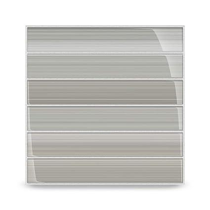 Amazon.com: Azulejos de vidrio para gris Gainsboro para ...