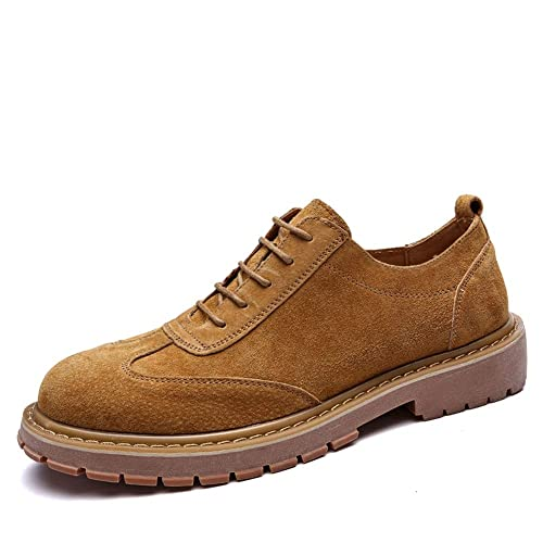 HILOTU Zapatos Oxford de Moda para Hombre Suela de Goma clásica con Punta Redonda y Zapatilla de Deporte de Color Retro para Limpiar el Alpinismo: ...