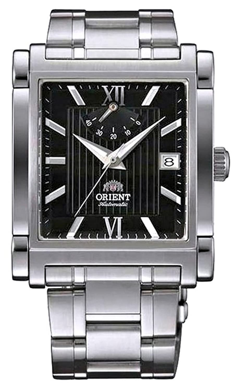 Orient Classic Automatic Power Reserveブラックダイヤル長方形スチール腕時計fdah003b B077CPDZ8P