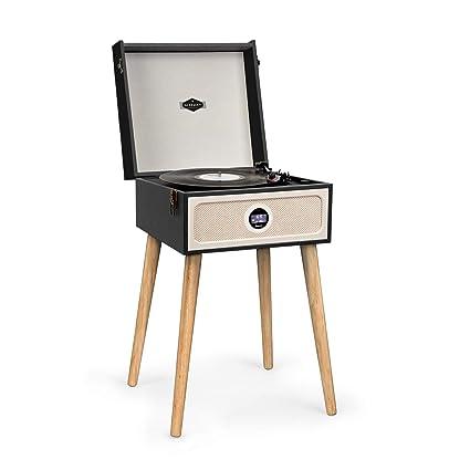 auna Sarah ANN Dab Tocadiscos - Radio Dab+/FM, 33, 45 y 78 RPM, Altavoces estéreo , Bluetooth, Puerto USB, Conectores AUX, de Auriculares de 3,5 mm, ...