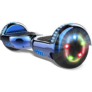 COLORWAY 6.5 Patinete Monopatín Eléctrico Scoter Auto-Equilibrio con CE Certificado, Bluetooth y Colorido LED