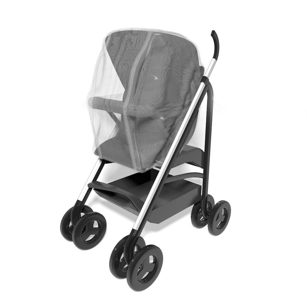 UrGarding Silver Coated Mesh Radiation Protection Baby Stroller Netting, Radiation Reduction max to 25 dBm, Shielding EMF Created by Your Electronic Products, Adjustable Size for Your Baby Stroller,
