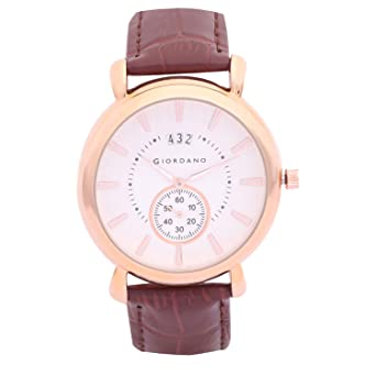 5a8d3ca088a28 Buy Giordano Analog Rose Gold Dial Men's Watch-C1147-03 Online at Low  Prices in India - Amazon.in