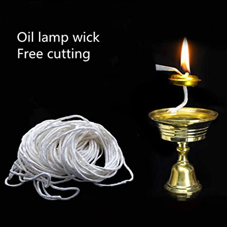 Thboxes 25m Pure Cotton Lamp Wicks Diy Oil Lamp Accessory