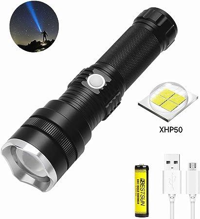 LED Flashlight Kit 5 Modes Bright Tactical Handheld Rechargeable 1600 lumen Gift