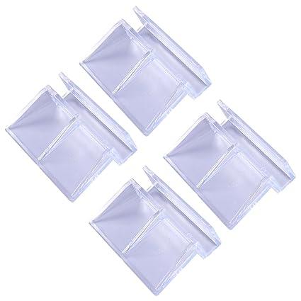 POPETPOP Pop etpop 4 Unidades 6 mm Acrílico Acuario Clips Transparente Cristal de plástico Tapa Soporte
