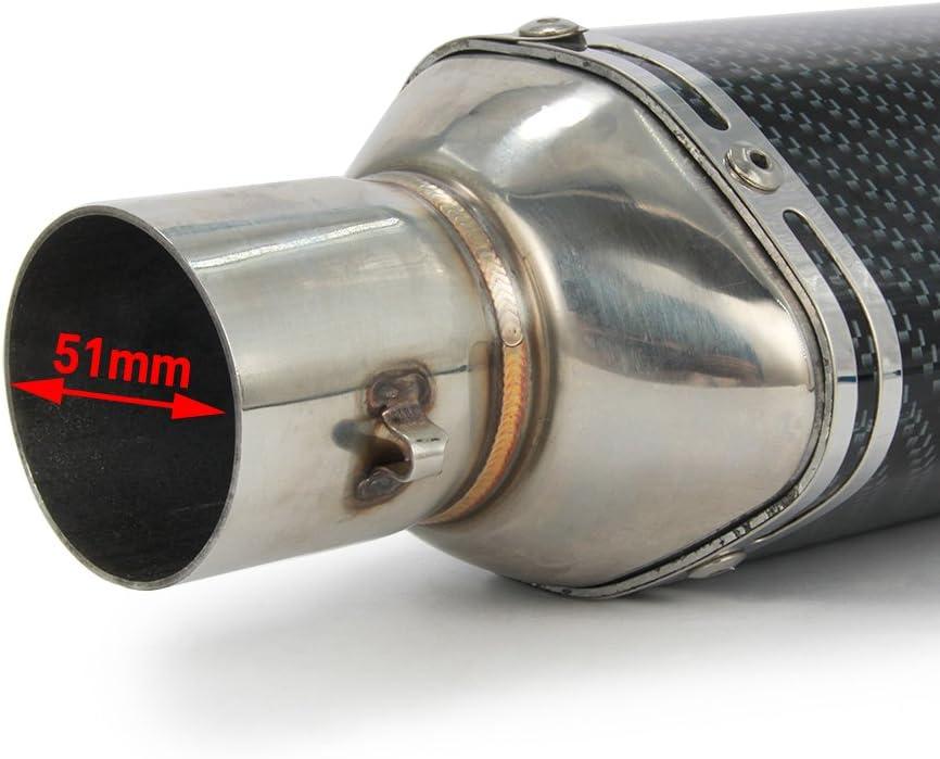 Universal 1.5-2 Inlet Hexagon Motorcycle Exhaust for Scooter Motorcycle ATV Dirt Street Bike Slip On Exhaust Muffler Pipe