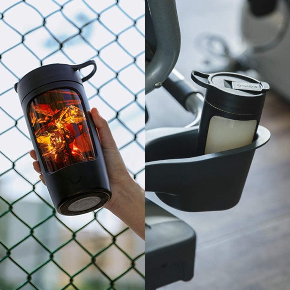 Habbuy - Tazza elettrica per miscelazione Vortice Mixer Fitness Cup portatile Nero Rosa