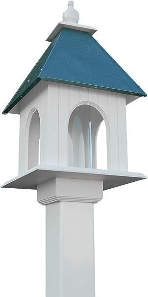 Amazon Com Bestnest Wing A Prayer Dogwood Bird Feeder Verdigris Colored Roof Garden Outdoor