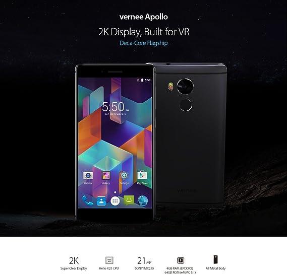 Vernee Apollo Smartphone 4G Android 6.0 (MTK6797T Helio X25 max ...