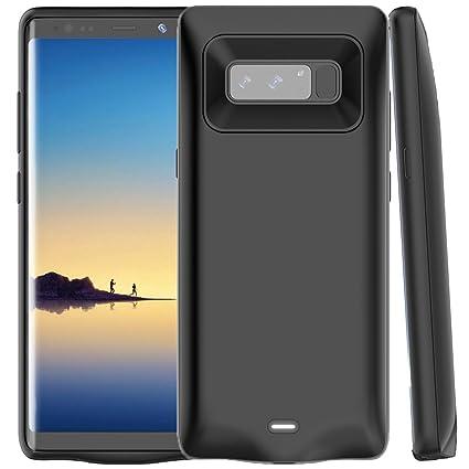 Amazon.com: Galaxy Note 8 Funda Cargador de caso, wuloo 5500 ...