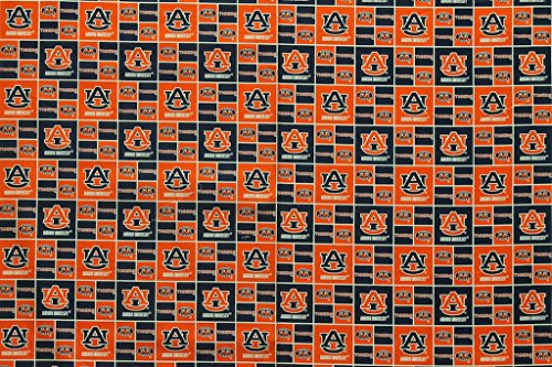 - Auburn Tigers Football Checkered Sheeting Fabric Cotton 4 Oz 44-45