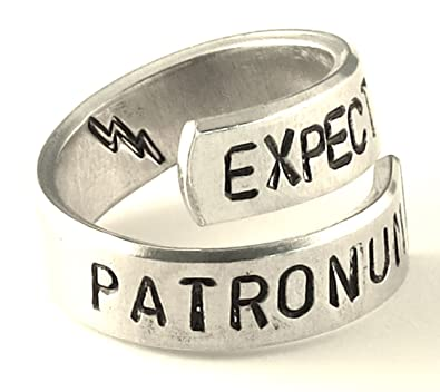 Expecto Patronum - Harry Potter - Wrap de aluminio ajustable anillo: Amazon. es: Joyería