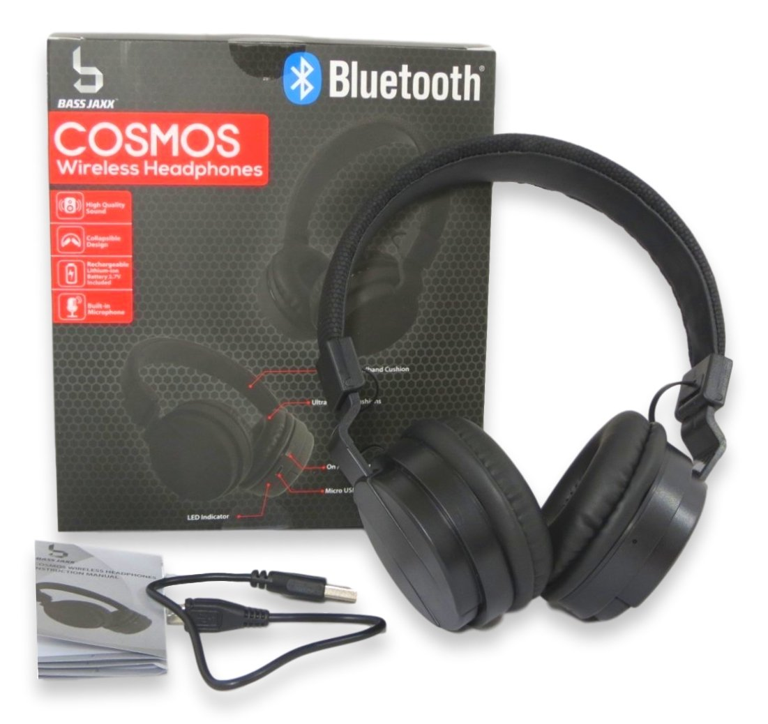 Amazon.com: Bass Jaxx Cosmos Bluetooth Wireless Headphones - HP-0194: Computers & Accessories