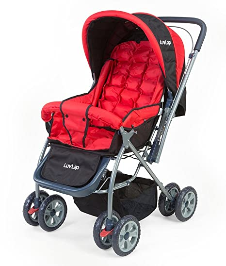 3a88a775b49 Buy LuvLap Starshine Baby Stroller (Red) Online at Low Prices in India -  Amazon.in