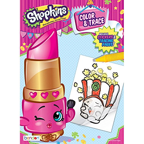 Shopkins Color & Trace Activity Book