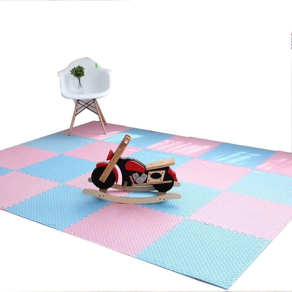 E 60×60×1.2cm(10PCS) HLMIN Tapis De Puzzles Jigsaw EVA Mousse Souple for Enfants Bébé Enfant en Bas Âge Exercice Sol Tapis De Jeu - SGS, TUV, Reach Testée for La Sécurité (4 Taille)