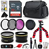 Professional 58mm Accessories Kit Bundle for CANON Rebel T7i T7 T6i T6 T6s T5i T5 T4i T3i T2i T1i XT XTi XSi, CANON EOS 80D 70D 60D 750D 760D 650D 600D 550D 500D 450D 7D 6D 5D 60D