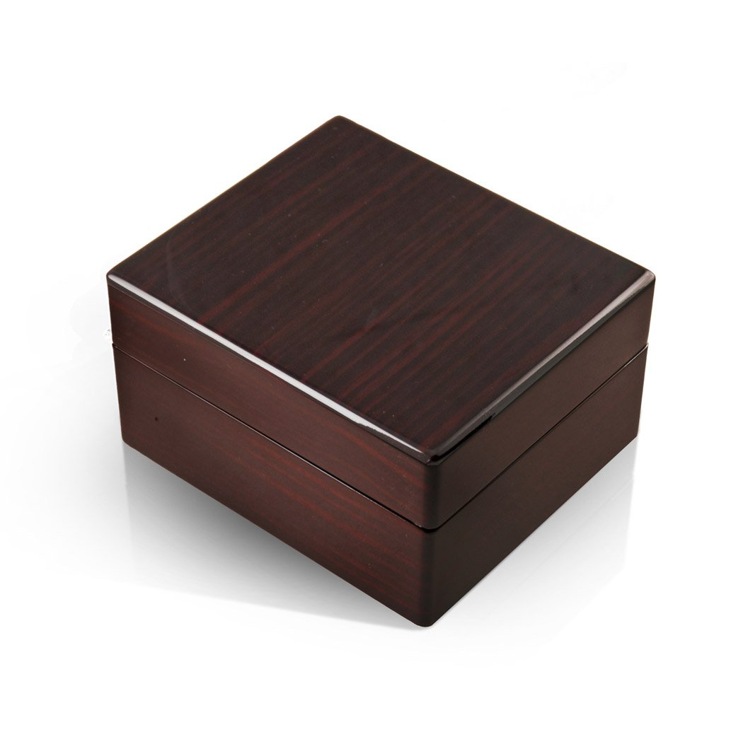 Modern Hi Gloss Macassar Finish 30 Note Music Jewelry Box - Many Songs Available - God Bless America