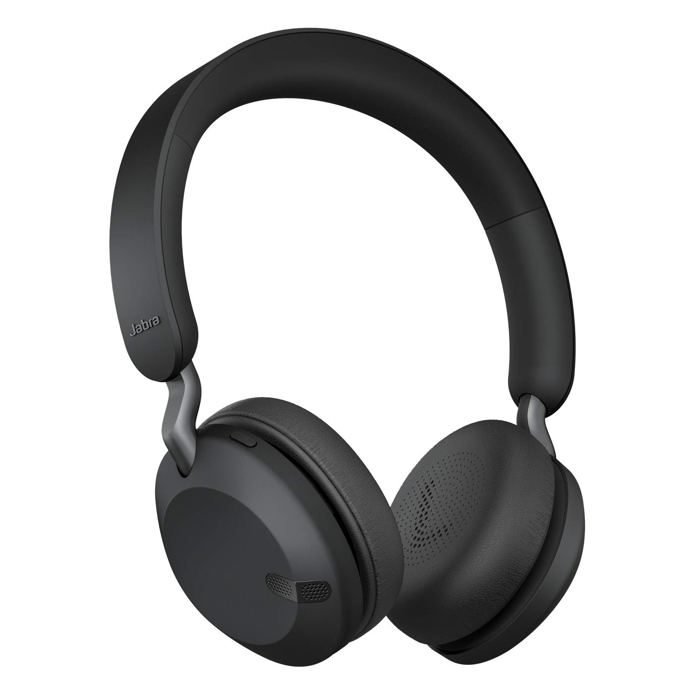 Jabra Elite 45h, On-Ear Wireless Headphones with Up to 50 Hours of Battery Life, Superior Sound with 40mm Speakers, Compact & Lightweight -Titanium Black, Designed in Denmark