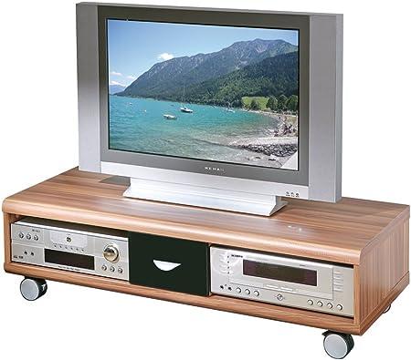 Link 30900850 - Mueble para televisor y Equipo de vídeo con Ruedas, Color Nogal: Amazon.es: Hogar