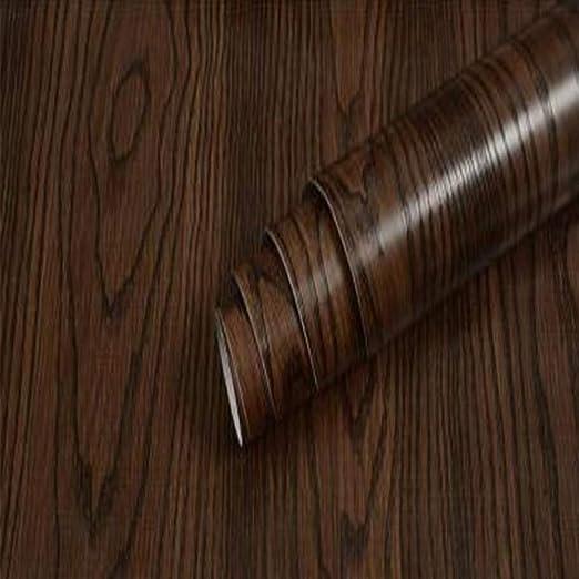 LZYMLG Pvc autoadhesivo impermeable papel tapiz de madera negro ...