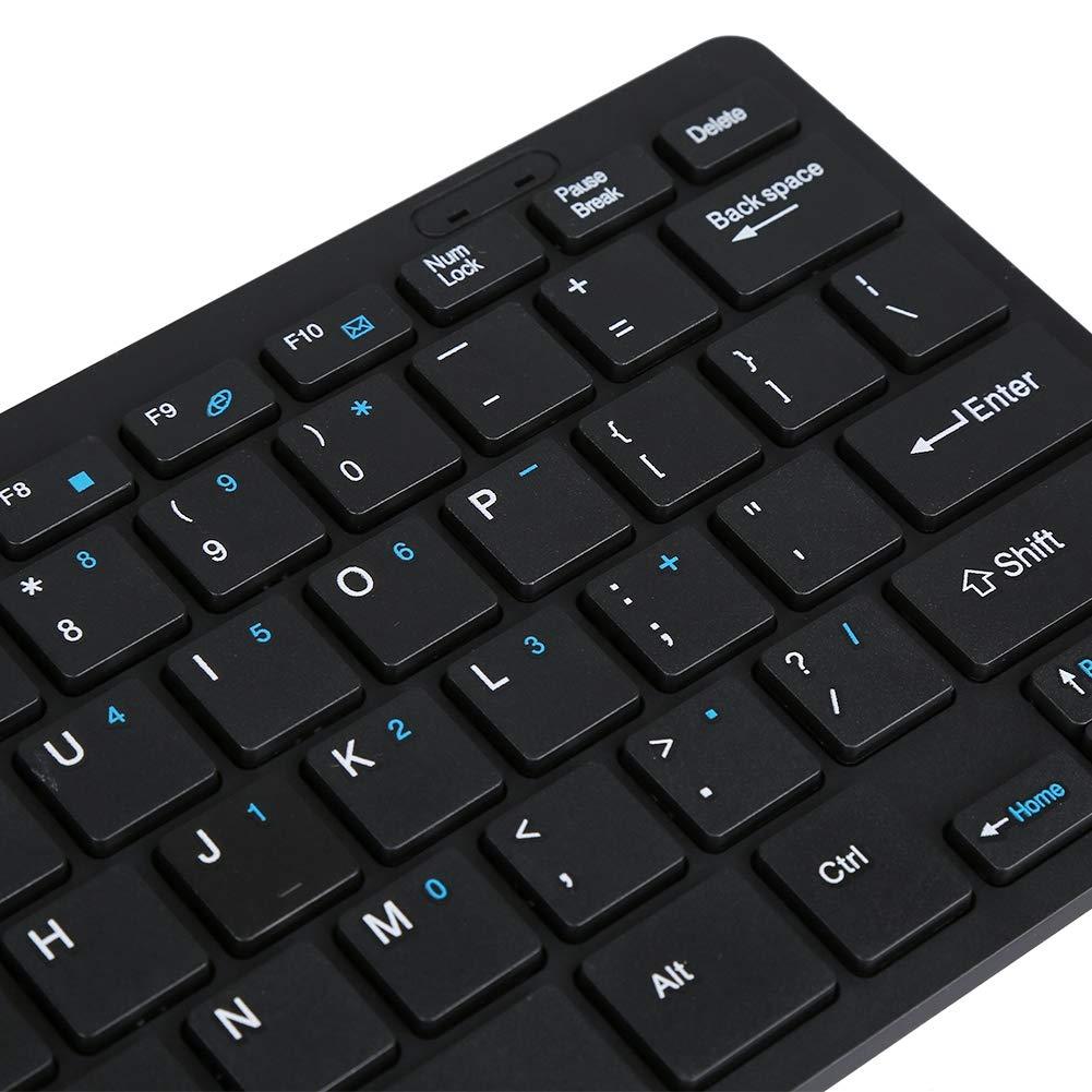 Lazmin 2.4G Wireless Multimedia Keyboard e Optical Mouse Set Gaming Keyboard Mouse Kit Combo per Windows Computer Desktop Portatile Apple Desktop