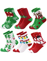 October Elf 6 Pairs Adult Christmas Holiday Socks Warm Winter Cozy Socks
