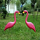 Pack of 2 Vivid Pink Flamingo Large 22.05'' Tall Yard Simulation Flamingoes Lawn Yard Garden Party Ornaments Art Decor