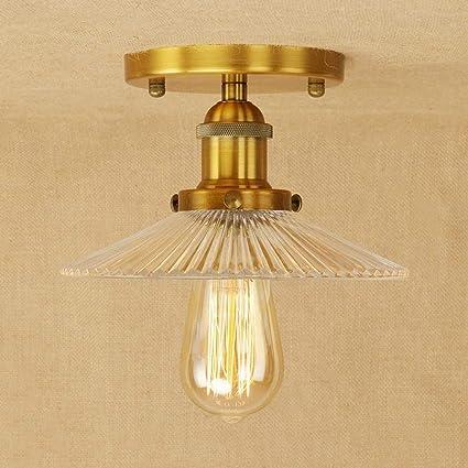 Amazon.com: Ganeep Stripe Glass Loft Vintage Retro Ceiling ...