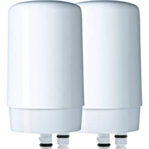 Brita On Tap Basic Water Faucet Filtration System Filter, White, 2 pack