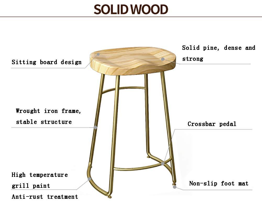 Amazon.com: JS-BORT Casual Creative Bar Chair - Solid Pine ...