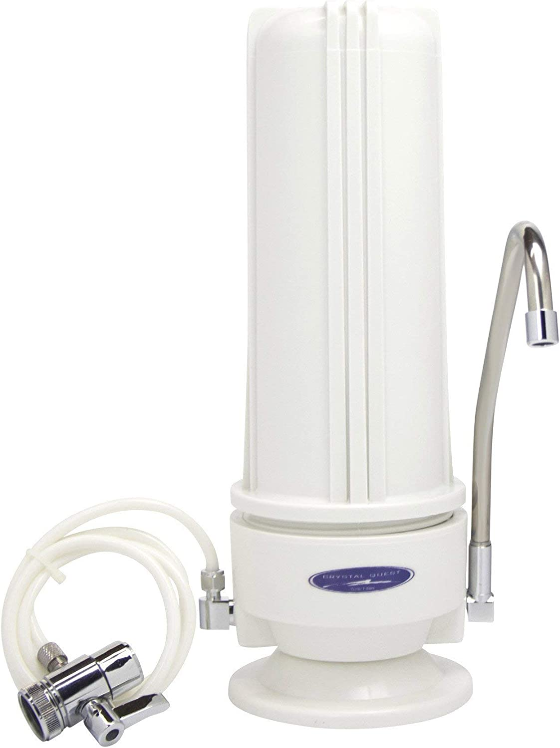 Smart Single Cartridge Countertop Water Filter System Crystal Quest Fluoride Removal