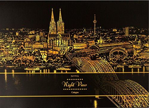 Lago Scratch Art Therapy- Night View (Cologne)