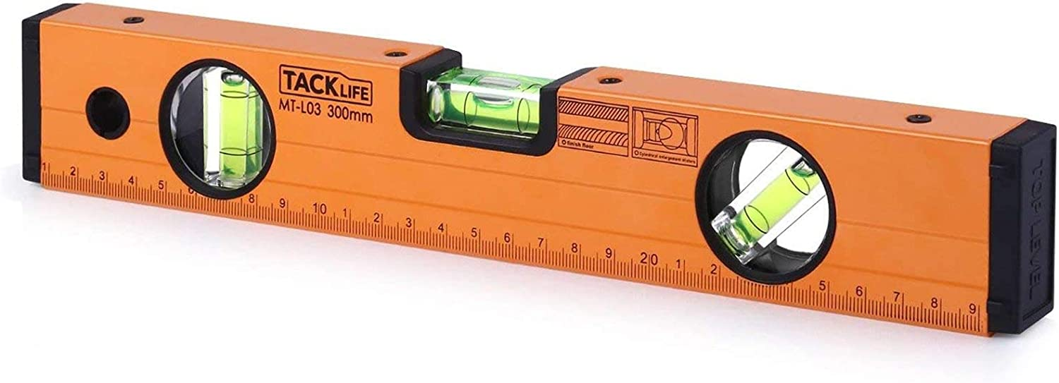 TackLife 12-Inch Aluminum Alloy Magnetic Torpedo Level
