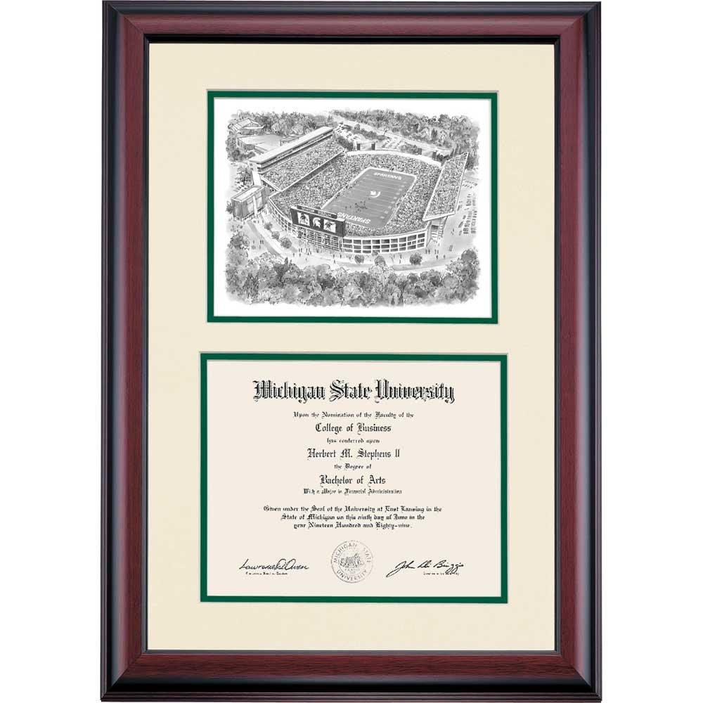Old Fashioned Michigan State University Diploma Frame Inspiration ...