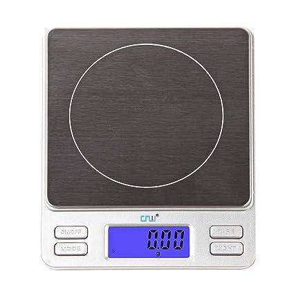 GSJJ Báscula Cocina Inoxidable Peso Tara Temporizador función, Escala de Alimentos, Digital Alta precisión