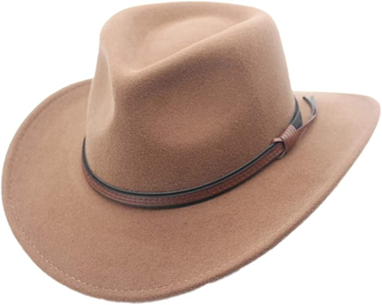 Shapeable Outback Cowboy Western Wool Hat Dallas Silver Canyon
