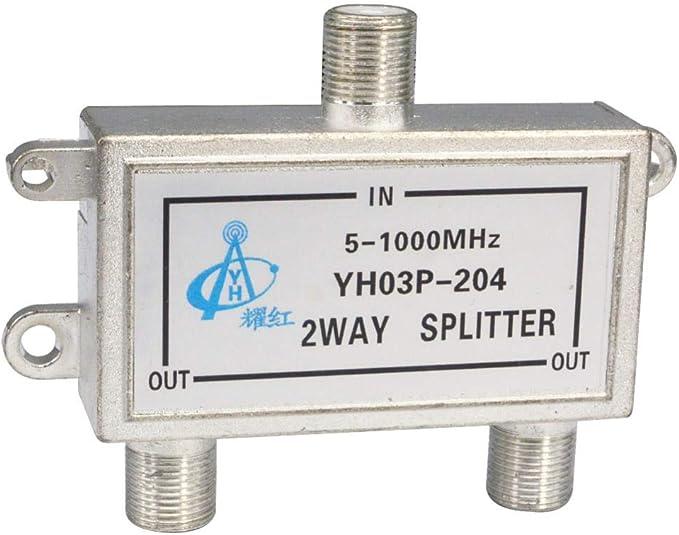 Ochoos 2 Way 204 Distribuidor Señal Splitter Conector CATV ...