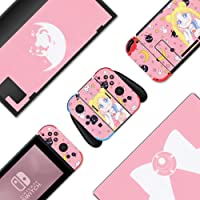 BelugaDesign Pink Sailor Moon Nintendo Switch Skin - Sticker Wrap Vinyl Decal - Pastel Solid Color Full Set for Console…