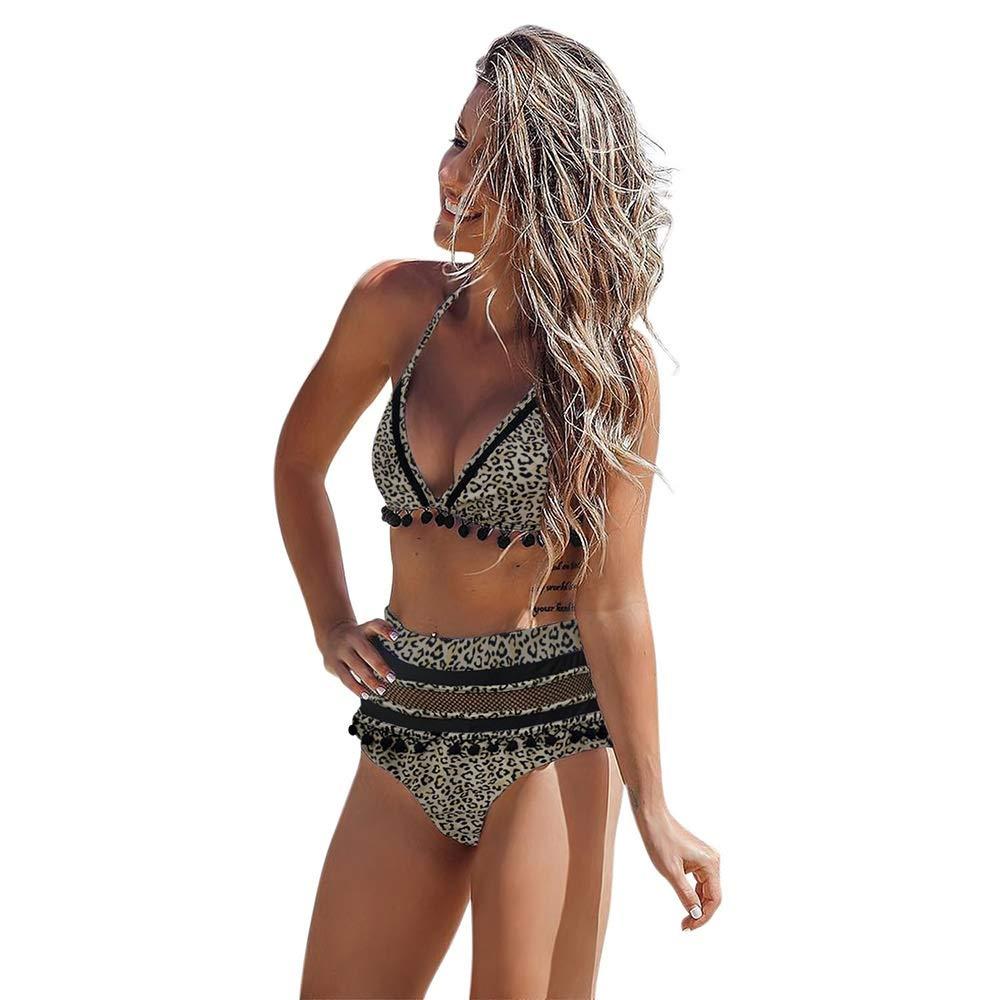 SHENTIANWEI Bikini de Tres Puntos con Cuello Redondo Corbata con ...