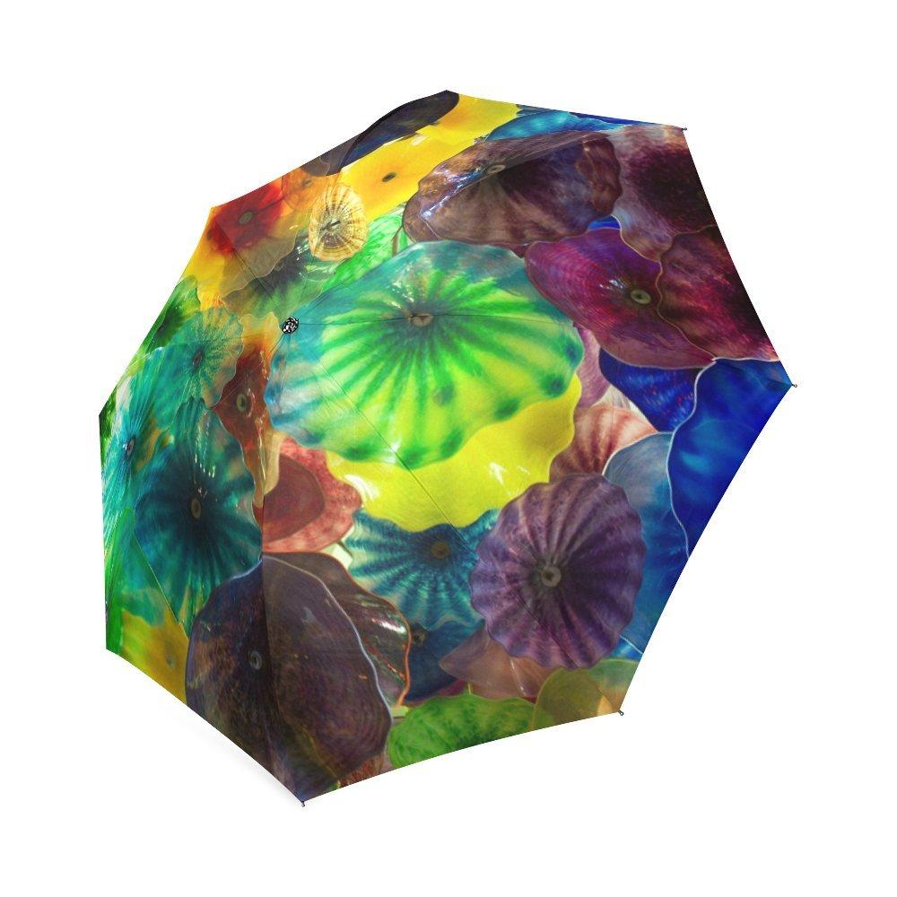 Personalized Chihuly Glass Art Custom Foldable Sun Rain Umbrella by Custom Umbrella