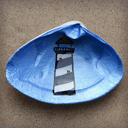 Lighthouse-Clam-Shell-Dish-Spoon-Rest-Soap-Dish-Jewelry-Holder-Catch-all-Cranberry-Collective