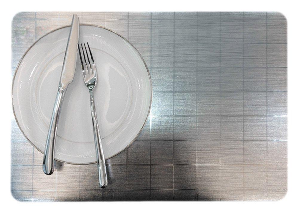6のセットPVC Dinning部屋/耐熱/防水スタイリッシュなプレースマット11.8 X 17.7