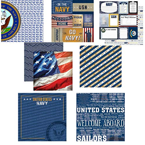Custom Bundle of Navy Themed United States Military 12